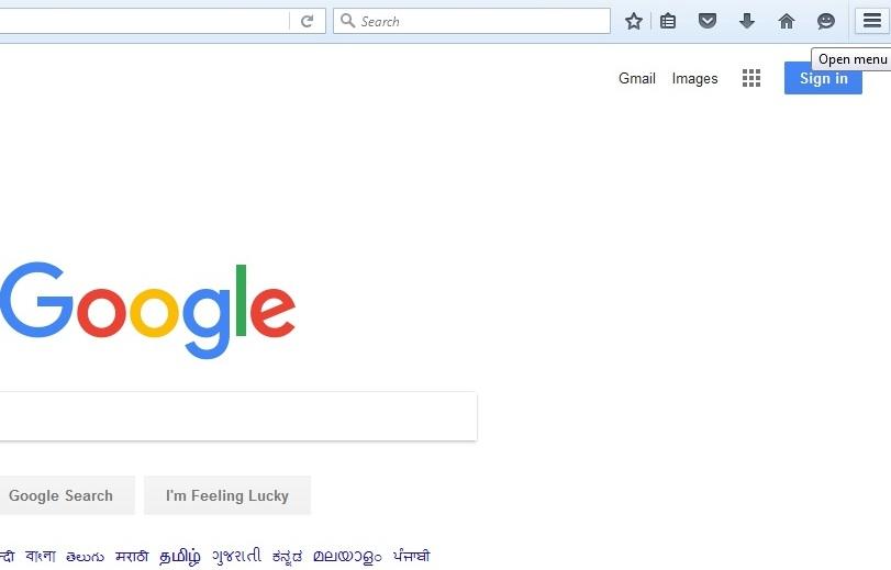 Click the menu icon on Mozilla Firefox