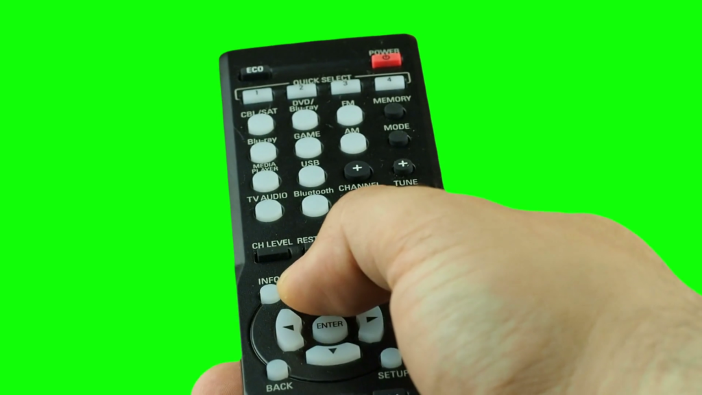 Use any TV or DVD remote